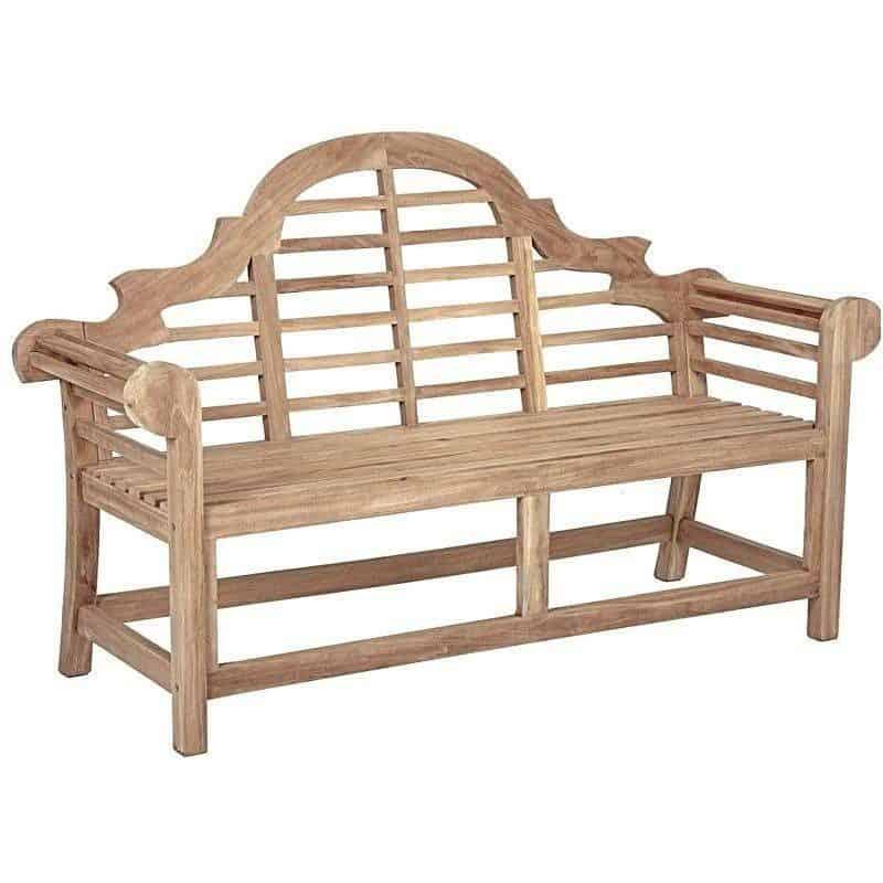 Tuinbank driezits van teak hout oerdegelijk en bijzonder mooi