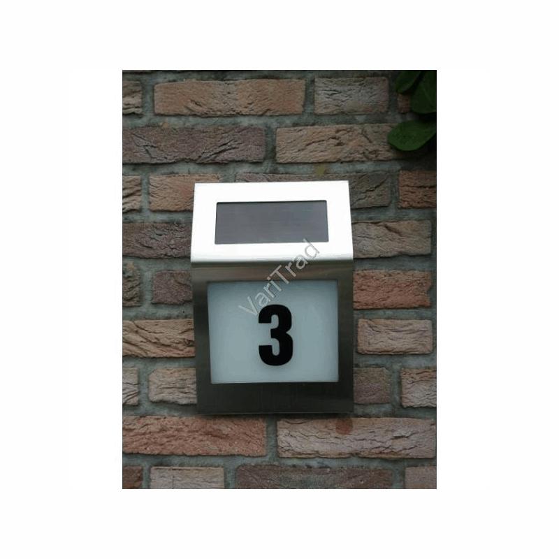 Huisnummer verlichting zonne-energie solar