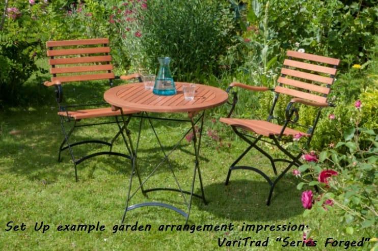 smeedijzeren tuinset met ronde tafel