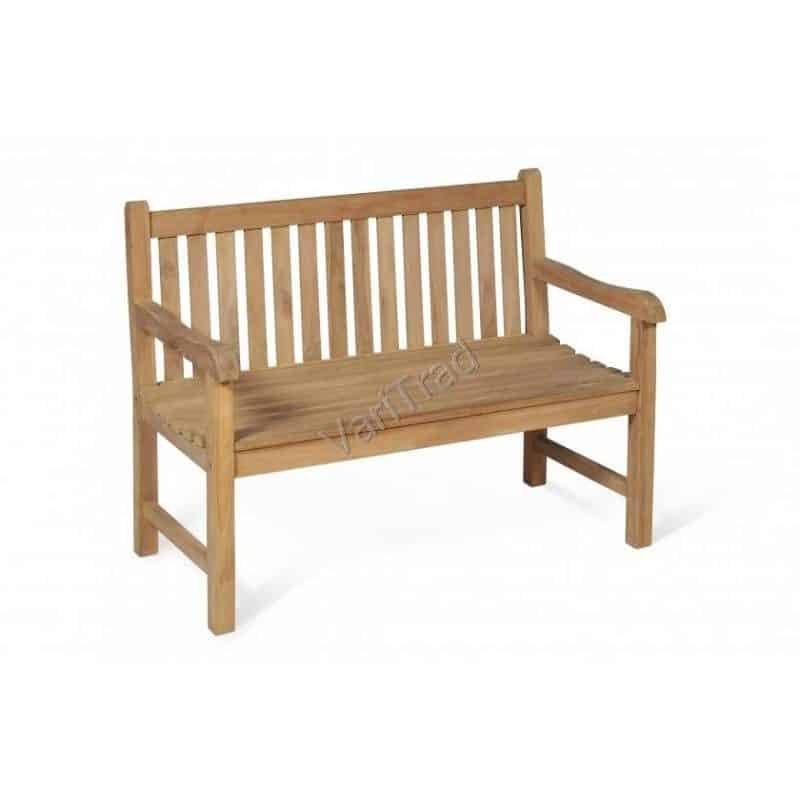 Tuinbank teakhout 2 zits houten bank tuinmeubilair