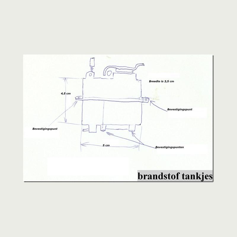 Brandstoftankjes tbv radiografisch modelbouw nw in doos