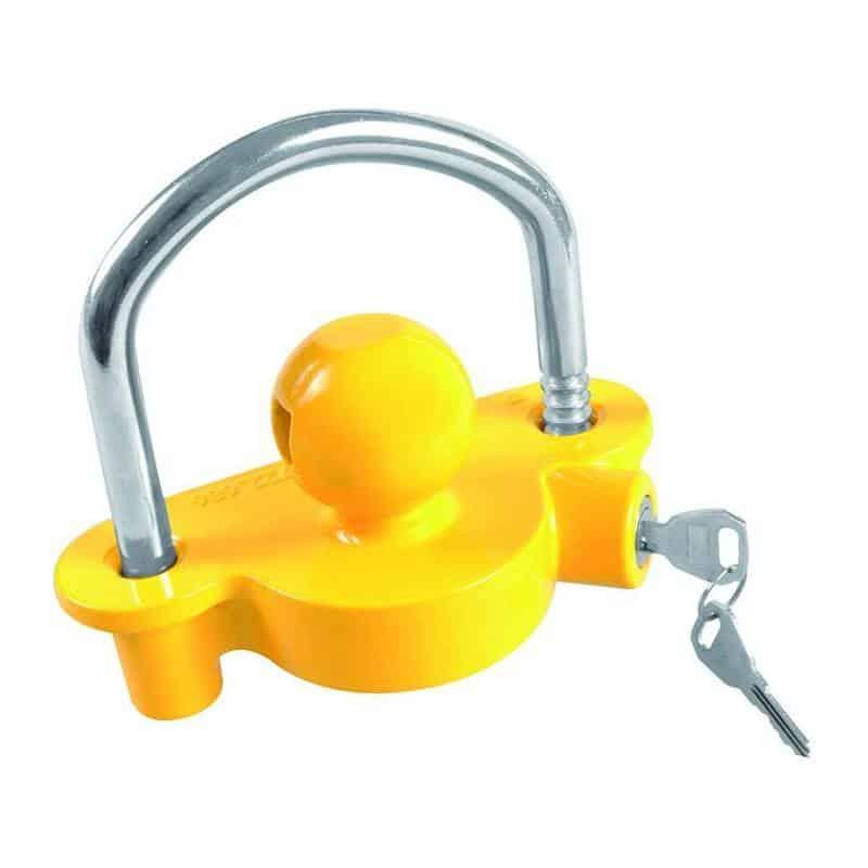 Koppelingsslot met cylinderslot voorkomt diefstal.