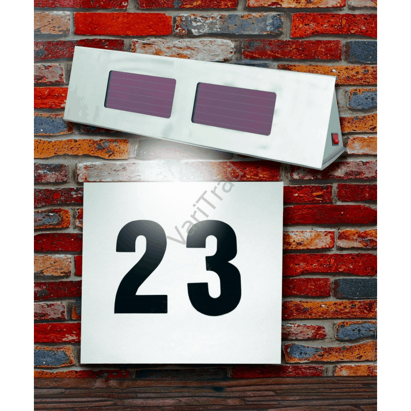 Solar verlichtingspaneel LED voor huisnummer, naambord of informatiebord