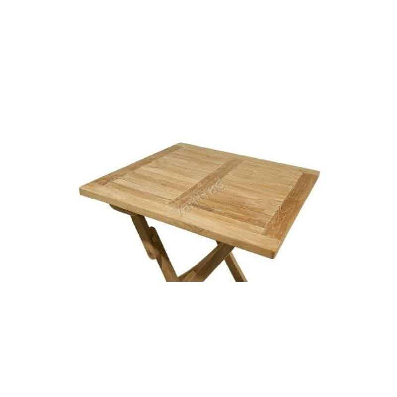 Teak tuintafel balkontafel scheepstafel inklapbaar vierkant