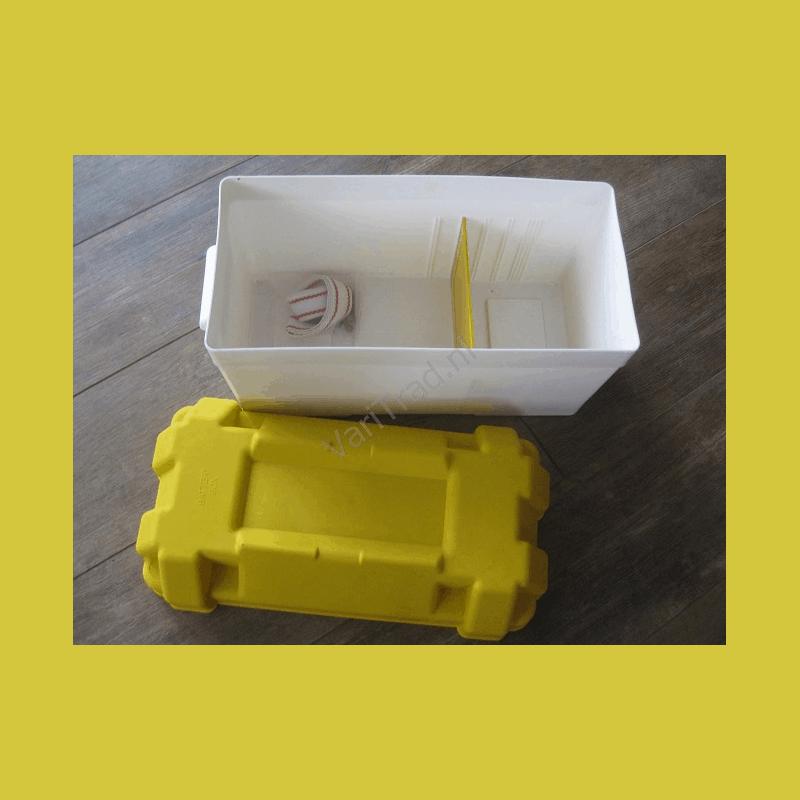 Accubak batterybox zuurbestendig voorkomt lekken van uw accu