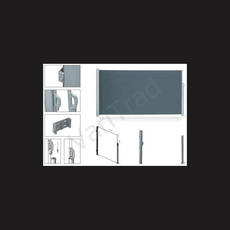Windscherm H 1.60 m x B 3.00 m oprolbaar in cassette