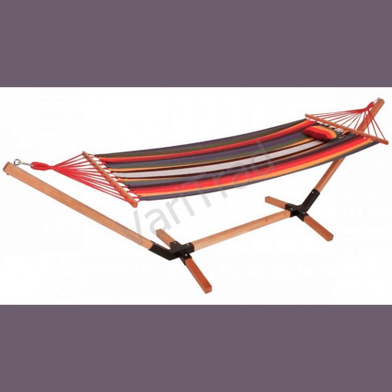 Hangmat houten frame katoenen doek voor tuin terras