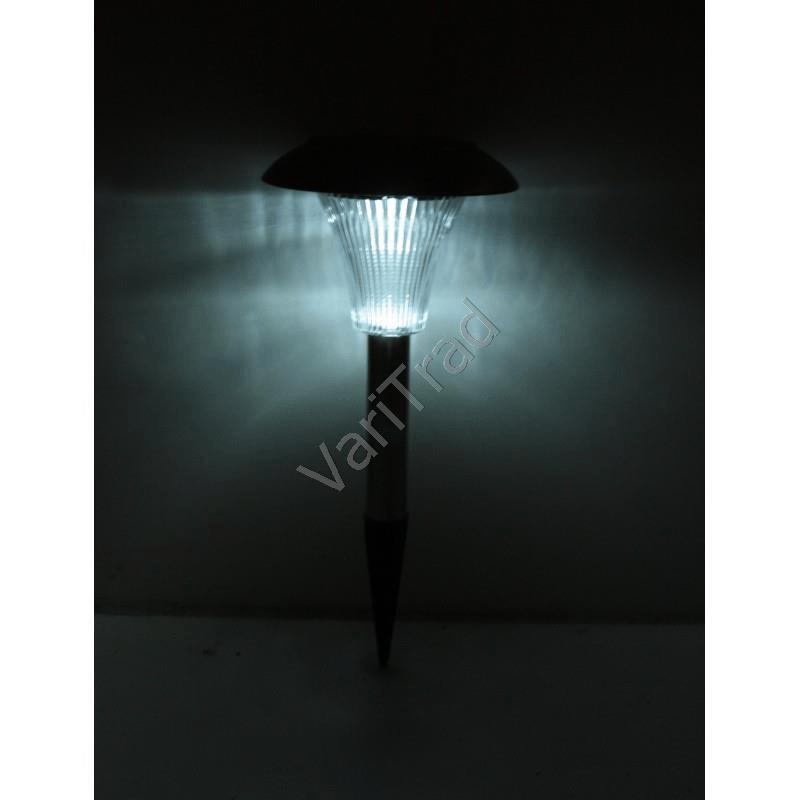 Solar verlichting set van vier met witte LED lampjes