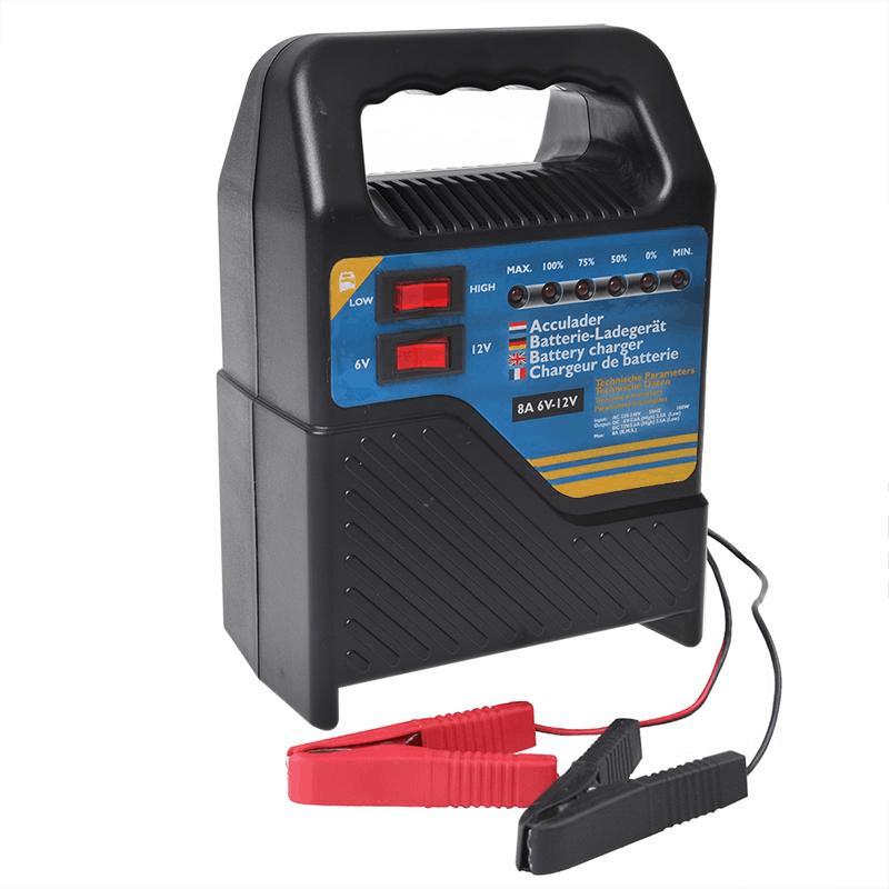 Acculader 6V/12V 8 Ampere
