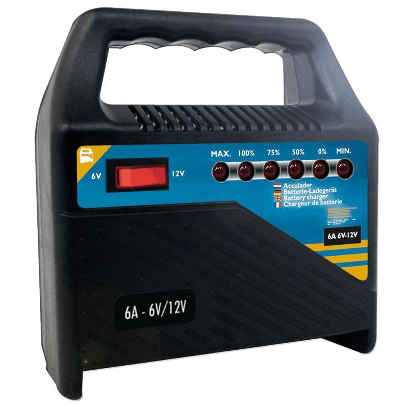 Acculader 6V-12V 6 Ampere