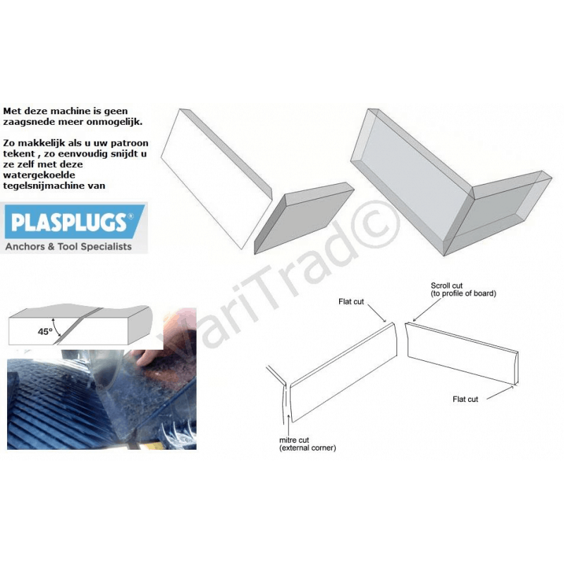 Tegelsnijmachine PlasPlugs DWW 082b