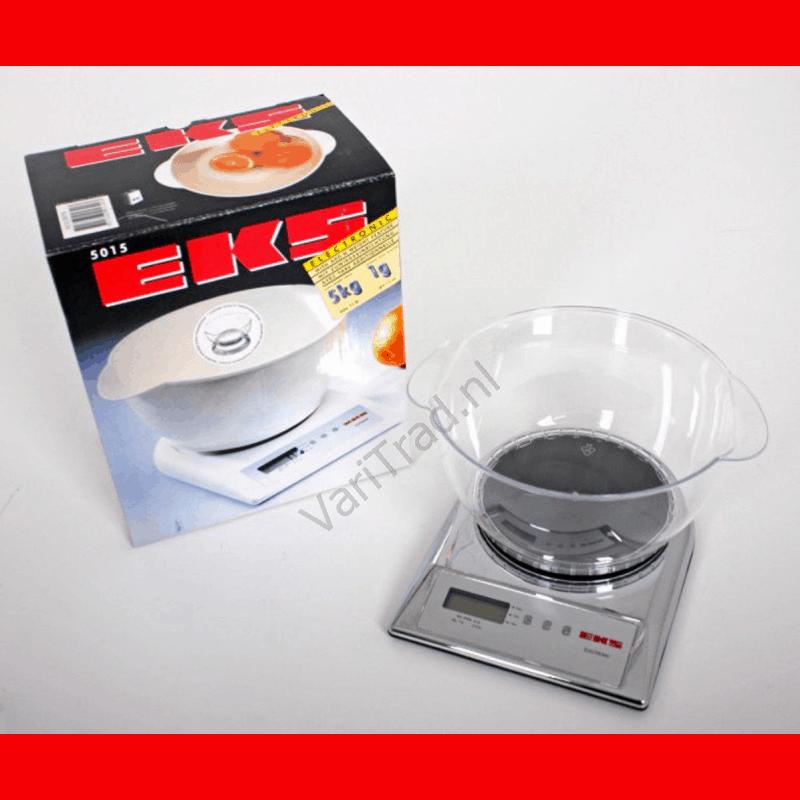Weegschaal met heldere transparante bowl