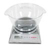 Keukenweegschaal met heldere transparante bowl