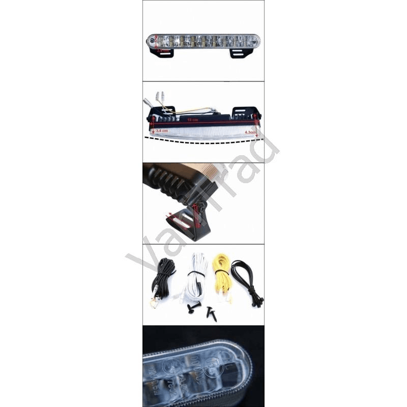 Dagrijverlichting 12V/24V 2x 18LED voor auto
