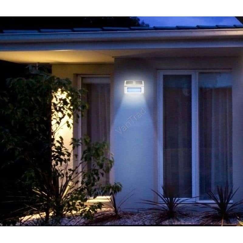 Set Solar trapverlichting RVS met twee witte LED lampjes