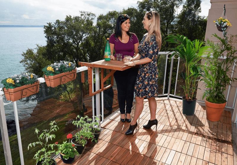 balkontafel hangtafel houten