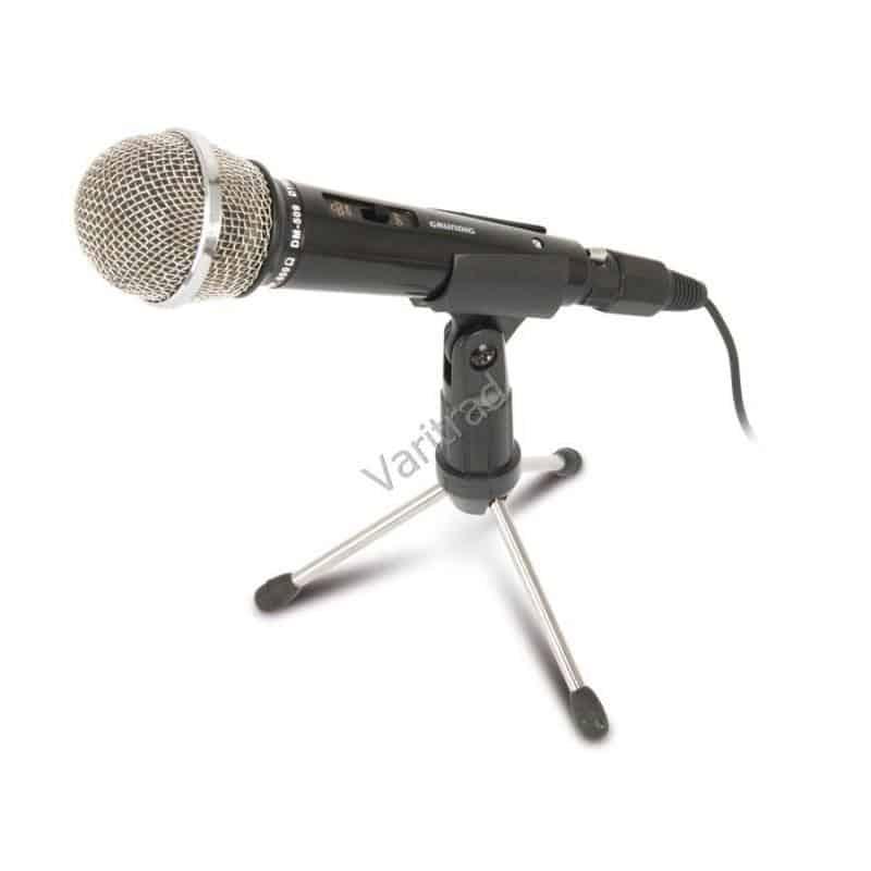 Draagbare microfoon met stander van Grundig