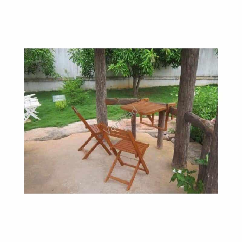 Tuinset voor balkon, veranda of boot van hardhout