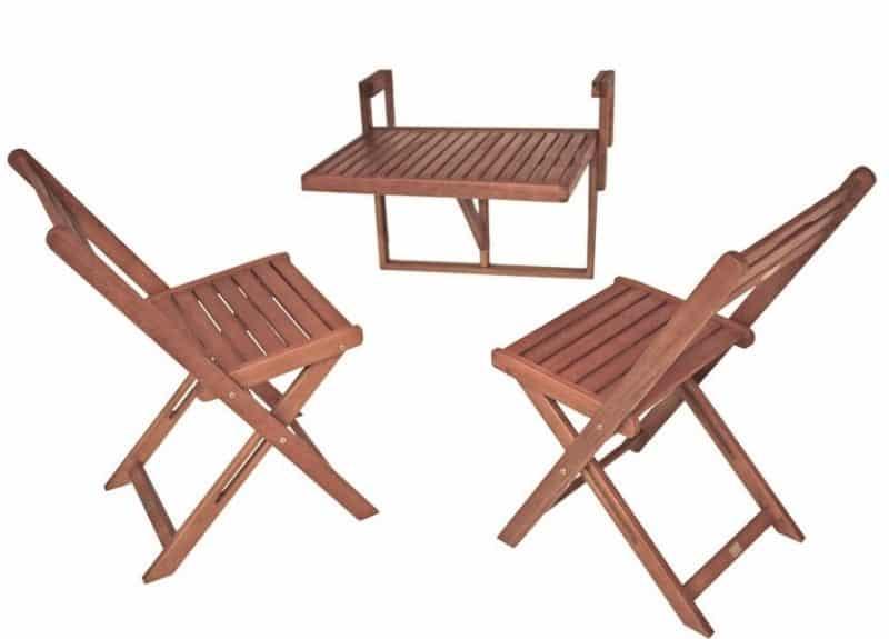 balkonset met stoelen en railingtafel
