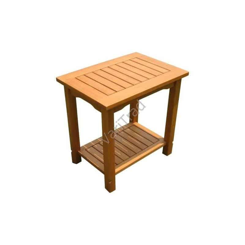 houten bijzettafel bloementafel van eucalyptus hardhout -