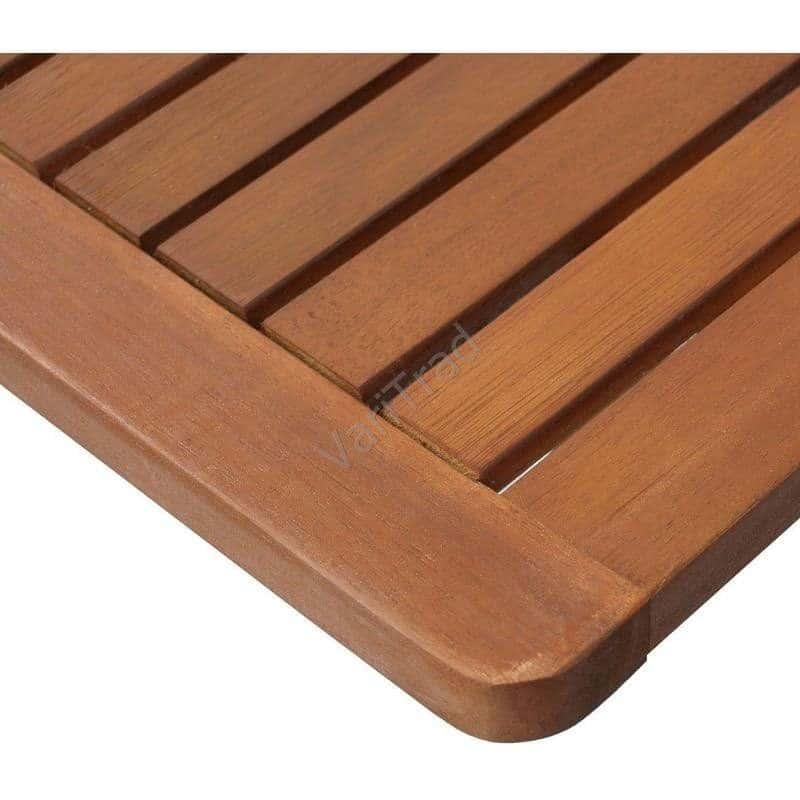 Houten bijzettafel, bloementafel, tuintafel inklapbaar FSC eucalyptus hout