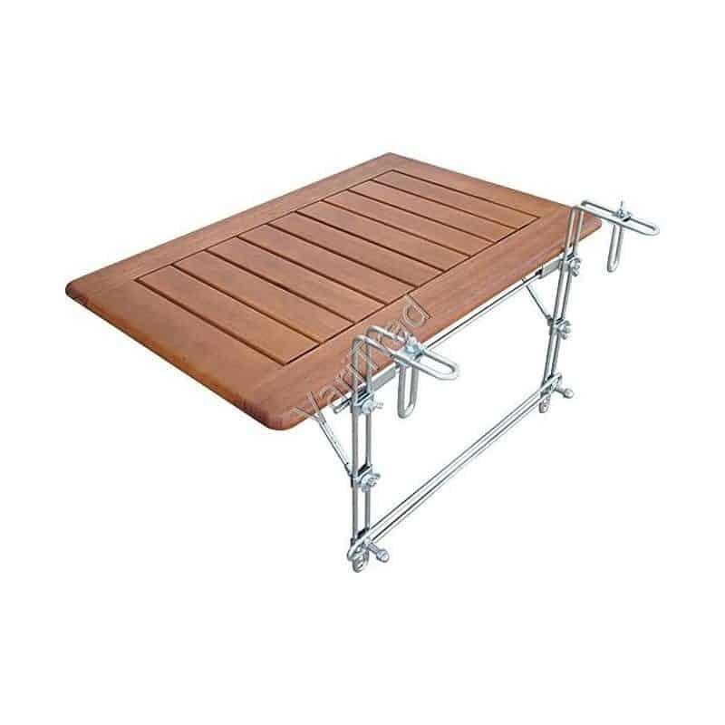 Balkontafel klaptafel van massief behandeld teak hout