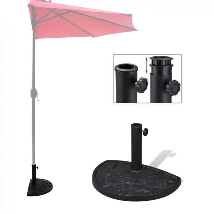 halve parasolvoet hars decoratieve