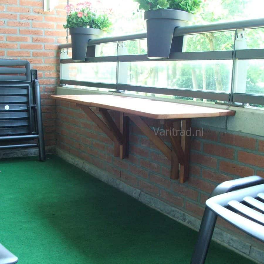 Balkontafel ge-olied eucalyptus hout voor terras, balkon, boot